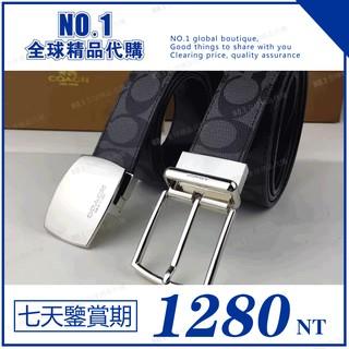 NO.1精品 代購 COACH 64828 雙頭皮帶  雙面使用 腰帶 男生皮帶 女生皮帶 配件 禮物