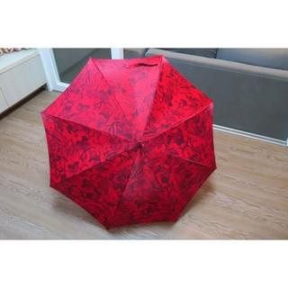 VALENTINO紅色花花直傘 雨傘 陽傘 時尚鉚釘扣 GR 附傘套