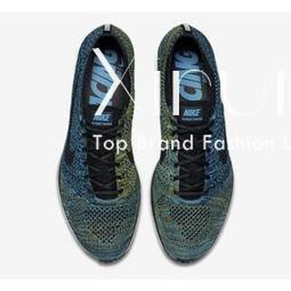 Nike Flyknit Racer Mens Running Trainers 862713 Sneakers Shoes (US 8, Rough Green Black 300)