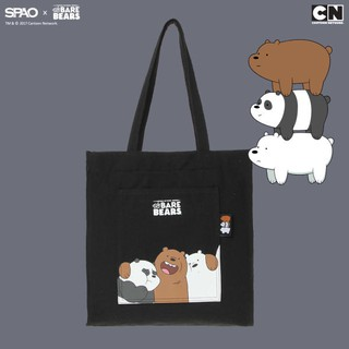 [預購]SPAO We Bare Bears 熊熊遇見你 帆布包 包包 肩背包 手提包 韓國代購 阿極 大大 胖達
