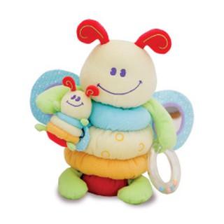 英國Little Bird Told Me寶寶認知玩具 抓抓玩具系列-胖胖母子蜜蜂