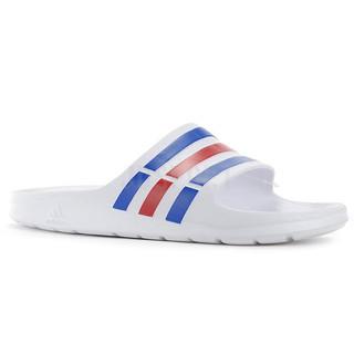 Adidas DURAMO SLIDE 男 女 白 藍 紅 運動 休閒 防水拖鞋 U43664