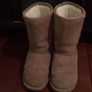 Bearpaw%20麂皮羊毛雪靴%205號,34-36.5都適穿。買一送一。