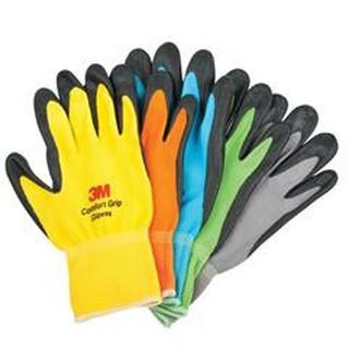 [大元五金]3M 亮彩舒適型 止滑手套 耐磨手套 防滑手套 透氣防滑 工作手套 3M手套 (XL)