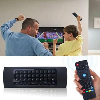 2.4G無線飛鼠鍵盤帶陀螺儀可充電智慧電視遙控器鍵盤【MX3】