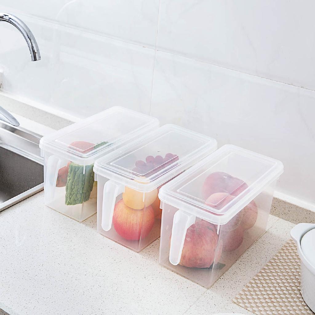 【現貨】居家家冰箱保鮮盒套裝長方形透明塑料盒子廚房食品水果密封收納盒冰箱隔板 置物盒 收納箱 保鮮盒 收納盒 冰箱收納盒