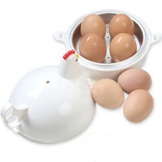 9. 韓版雞形微波蒸蛋器4蛋煮蛋器 / 可蒸饅頭麵包水餃 微波爐專用