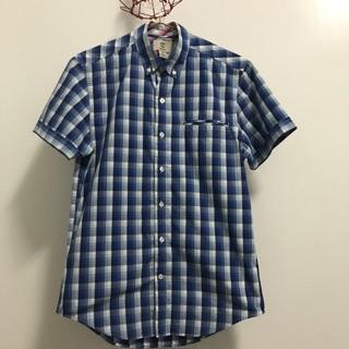 Timberland 藍格短袖襯衫