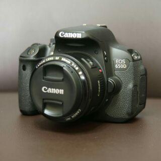 二手單眼相機 CANON 650D 鏡頭50mm 1.8