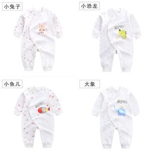 2018 爆款四季新生兒衣服嬰兒連身衣寶寶連體衣長袖上衣寶寶包屁衣0 3 歲蝴蝶衣新生兒卡