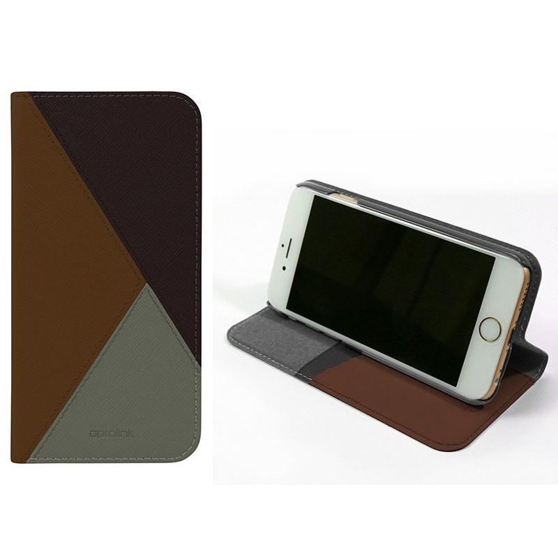 [出清特惠價 售完為止] Aprolink iPhone 6/6S 4.7吋 時尚色塊皮質掀蓋手機殼 多色可選