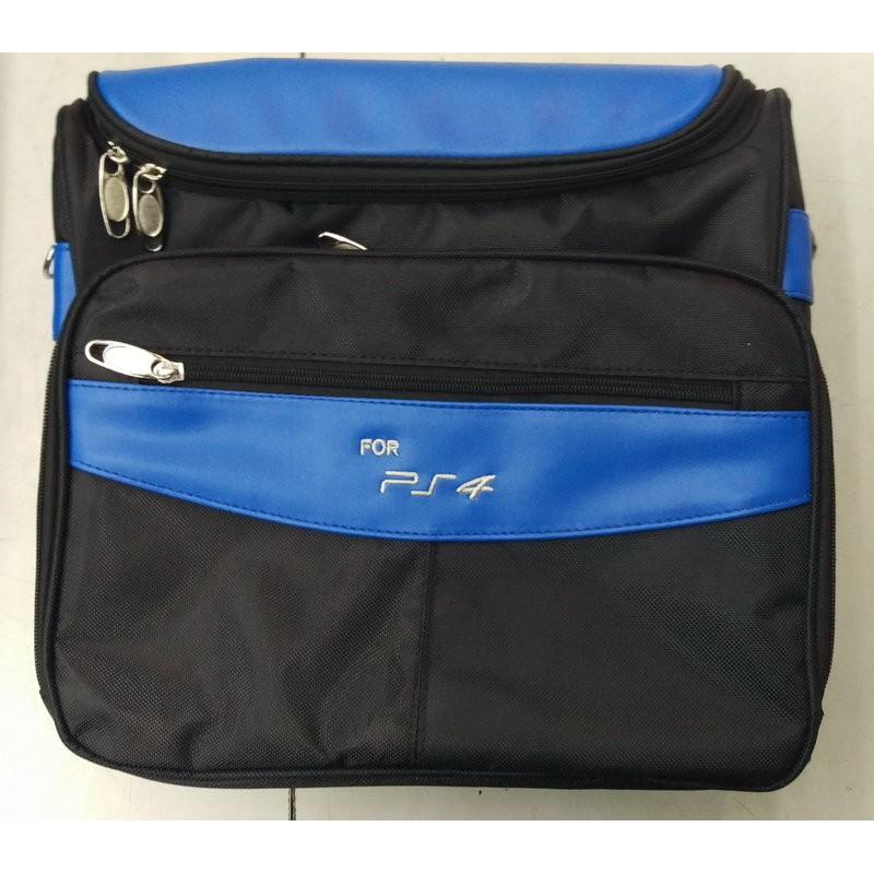 [哈GAME族] ●大容量好攜帶● PS4 PS3 藍色 主機收納包 主機包 主機保護包 防震包 旅行包 外出