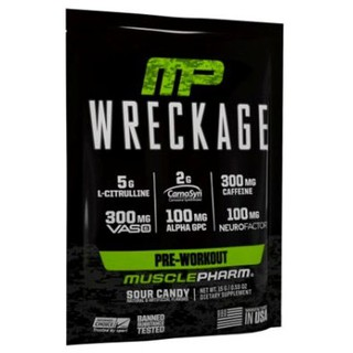 【Muscle King】MusclePharm Wreckage MP 訓煉前 Pre-Workout 1包1份15g
