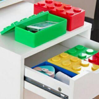 樂高積木收納盒 收納盒文具收納盒可疊式收納工具桌面整理盒小物收納書桌化妝品收納