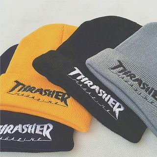 THRASHER毛線帽/毛線帽子/青少年熱愛的毛線帽/反摺帽針織帽毛線帽/彈力帽/中國有嘻哈/套頭保暖冬帽/情侶款男女款