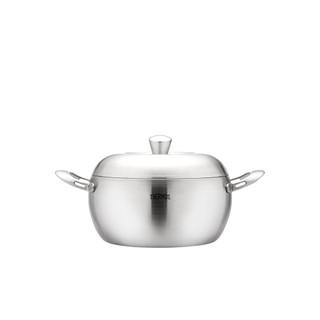 THERMOS膳魔師 新一代蘋果原味鍋 雙耳湯鍋22cm SAN-W22/ 蒸鍋Z-ZSAN22