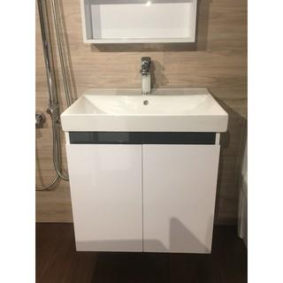 寬60公分 洗手台 洗臉盆 浴櫃(吊櫃) 含 單槍龍頭+全部配件  免運