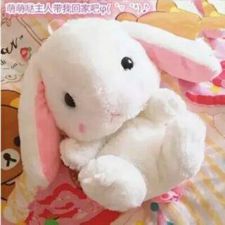 日系蘿莉塔lolita兔兔兔子絨毛玩偶後背包 公主粉紅幼兒背包 小書包 肩背包