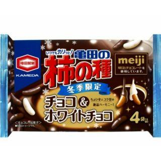 【現貨】冬季限定日本龜田柿種×meiji明治 白巧克力 黑巧克力