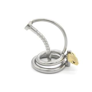男用不銹鋼貞潔器金屬貞操裝置陽具鎖陰莖鎖另類玩具/送潤滑液C532