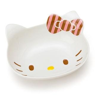 16092300003 日本製陶瓷造型咖哩盤-斜紋粉 凱蒂貓 KITTY 咖哩盤 盤子 餐盤 陶瓷製 日本製