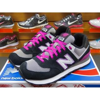 New Balance 574 女 黑桃紅灰 原味復古 麂皮 慢跑鞋 NB WL574SBP (813)