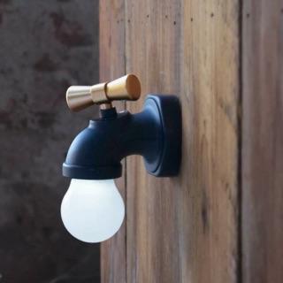水龍頭造型 小夜燈
