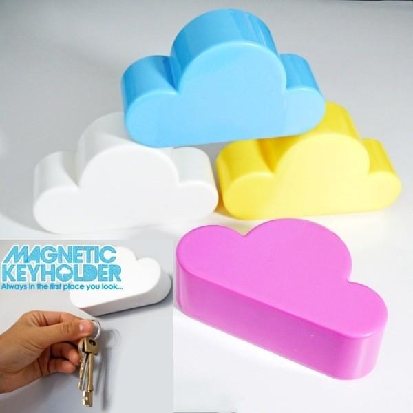 【雲朵鑰匙掛】磁吸式 鑰匙收納 強力磁鐵 創意簡約 家居 鑰匙防丟 雲朵造型 鑰匙掛