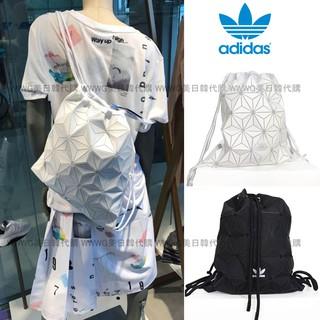 新品實拍Adidas Originals BUCKET GYM SACK 三宅一生束口袋後