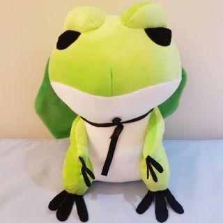 全新 旅行青蛙 時下最夯 30公分高 明星片 青蛙 旅蛙 荷葉帽子 絨毛 娃娃