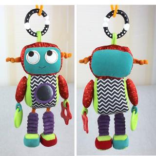 英國 寶寶 機器人 娃娃 安撫 固齒器 可掛推車
