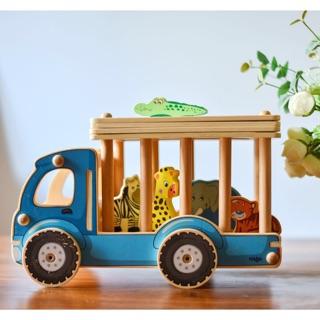 ✨預購✨木質動物運輸車 配對遊戲 德國haba