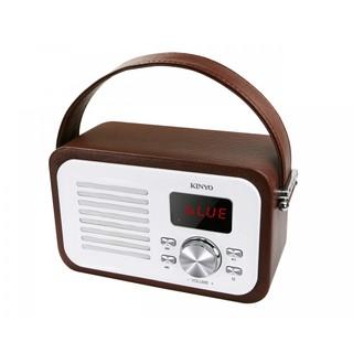 (特價)KINYO 經典木質藍牙喇叭 (特價) BTS-693 內建FM收音機功能 可免持通話 攜帶方便-