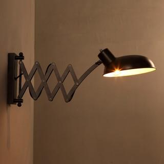 美式鄉村Loft伸縮牆壁燈復古創意個性餐廳臥室書房床頭工業鐵藝壁燈 工業風愛迪生壁燈