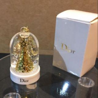 全新Dior專櫃正品 迪奧 限定限量絕版品 金燦聖誕鑰匙圈