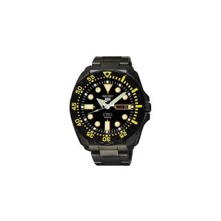 SEIKO精工 新款5號盾牌系列 錶徑46mm 全電鍍黑型號:SRP607K1
