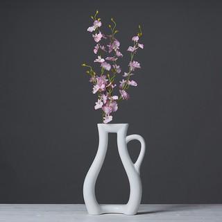 北歐極簡花瓶創意家居客廳書房裝飾柜陶瓷工藝品花插花藝茶壺花瓶