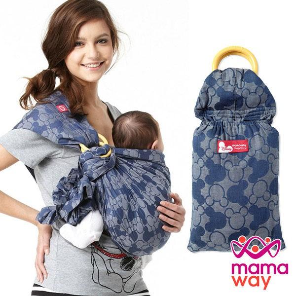 【mamaway媽媽餵】米奇萬花筒育兒揹巾(藍色) 背帶