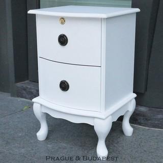 今訂明到│米亞二抽櫃~8093 2 ~兩色 製抽屜可鎖收納櫃床頭櫃英式古典檯客房民宿套房展