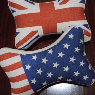 國旗懶骨頭造型頸枕