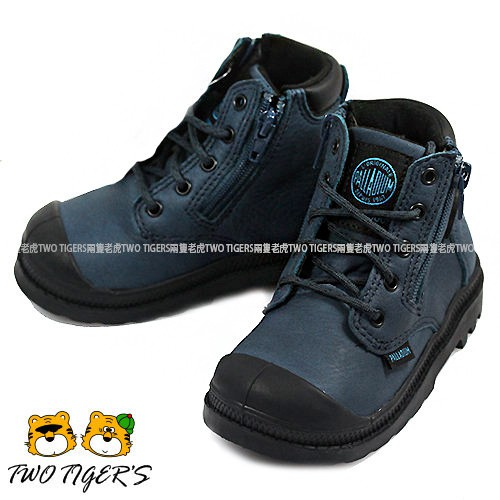 【經典款】Palladium Waterproof 深藍色 皮革防水短靴 小童鞋 NO.R0703 (第2波補貨)