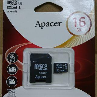 Apacer宇瞻 16GB 全新未拆 TF MicroSD UHS-I C10 U1記憶卡