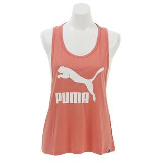 PUMA女生運動休閒背心 粉紅色背心上衣 經典Logo休閒背心 胸前logo無袖背心 57628711