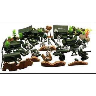 送地圖 軍事玩具兵人模型90配件 戰爭場景塑膠小兵人兒童益智拼裝