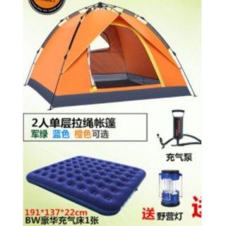 雙人帳篷含燈床充氣