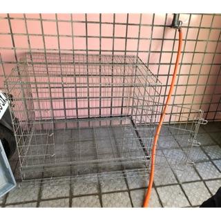 不鏽鋼可折疊收納狗籠