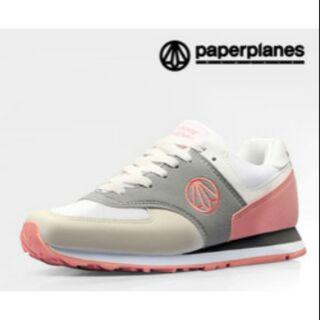 韓國空運 PAPERPLANES 運動鞋 跑步鞋 情侶鞋 PP1336 灰粉色 (預購)