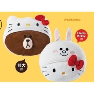 7-11 LINE FRIENDS & Hello Kitty 聯名造型絨毛玩偶/抱枕