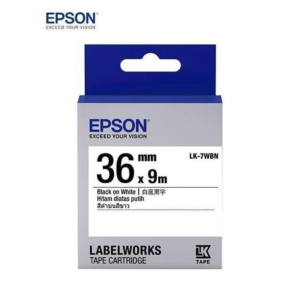 [哈GAE族] EPSON 原廠 標籤機 色帶 標籤帶 LK-7WBN/LC-7WBN 寬度36mm LW-900適用