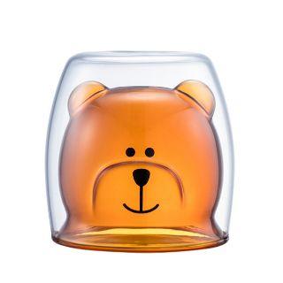 現貨,星巴克琥珀bearista雙層玻璃杯